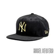 【NEW ERA】MLB NY 紐約 洋基 鵝絨 金字 黑金 棒球帽 9FIFTY  限量【ANGEL NEW ERA】