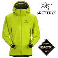【ARCTERYX 始祖鳥 加拿大】Beta SL Hybrid 透氣防水外套 防水夾克 風雨衣 GORE-TEX 男款 夜光黃 (L07174000)