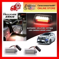 Toyota Alphard Vellfire Estima 2015 ANH30 ACR50 LED Car door flash Light canbus vellfire accessories anh30 accessories