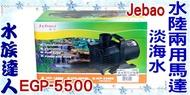 【水族達人】捷寶Jebao《淡海水 水陸兩用馬達.EGP-5500(20000L) 》池塘/魚池/水陸兩用馬達/ 沉水馬達