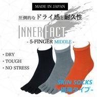 INNER-FACT(內部事實)SKIN SOCKS(厚度偏淡)5部手指中間長(脚踝長)短襪男性人禮物贈答禮物2908-508跟踪跑步·超馬拉松·鐵人拉力賽 glanage