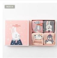 caramella 親子兒童寶寶襪可愛卡通彩色動物純棉中筒襪子 格蘭小舖
