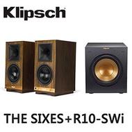 【福利品】美國Klipsch 藍芽喇叭THE SIXES+R-10SWi重低音喇叭(附贈:無線低音喇叭傳輸器) (2.1聲道組合)