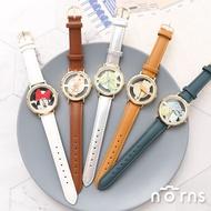 日貨J-axis手錶WD-B13簍空系列 - Norns 迪士尼 日本復古皮質腕錶 小熊維尼米奇米妮Sunflame