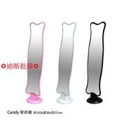 【惠】!!《Candy》DIY 穿衣鏡 全身鏡 立鏡 化妝鏡 黑色 粉色 白色 楠楠