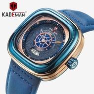 ▧KADEMAN 9030 NEW Square Watch Waterproof Original Men Luxury Sport Watches Fashion Wristwatches