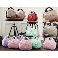 新款 Hello Kitty 14吋立體ABS旅行箱行李箱手提包硬殼手提箱化妝箱收納包