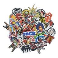 52 Pcs Rock Band เด็กสติ๊กเกอร์การ์ตูนยุโรปและอเมริกากีต้าร์ไฟฟ้ากระเป๋าเดินทางล้อลากกรณีโทรศัพท์มือถือแล็ปท็อปลำโพงสติกเกอร์สายน้ำ
