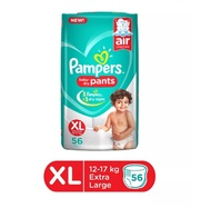 Pampers Pant Style Diapers [Extra Large] Xl Nappy -56 Pieces