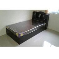 furnituredd เตียงนอน ขนาด 3.5 ฟุต รุ่น D3พร้อมที่นอนPVC สีโอ๊ค