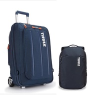 Crossover 22吋/36L行李箱-深藍+Subterra 14吋/23L商務旅行後背包-礦藍