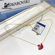 Swarovski ICONIC SWAN หงส์แดง สร้อยคอผู้หญิง whooper หงส์ สง่างามและมีเสน่ห์