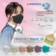 弗綠嘉(聚泰) 醫療級 KN95立體醫療口罩(3層高防護)10入/盒(單片獨立包裝),七種顏色