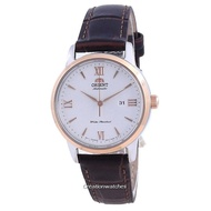 Orient Contemporary White Dial Leather Automatic RA-NR2004S10B Women's Watch