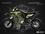 Decal Stiker Yamaha WR 155 Skull Supermoto