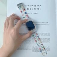 บังคับมอนสเตอร์เล็กๆน้อยๆapplewatchสายนาฬิกาแอปเปิ้ลโปร่งใสiwatchs6กีฬาสายรุ้งหญิงสร้างสรรค์