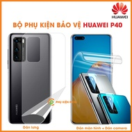Paste Huawei P40 screen and Huawei P40 back stickers and Huawei P40 camera stickers - Combo3