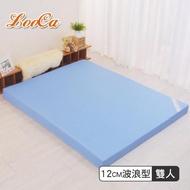 【送羊絨圍巾】花焰超透氣12cm釋壓記憶床墊-LooCa(雙人5尺)