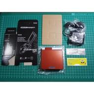 高亮背光 game boy advance sp GBA SP AGS-101型號 全新副廠紅白殼配色主機