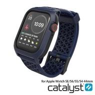【Catalyst】APPLE WATCH SE/S6/S5/S4 44mm 耐衝擊防摔保護殼-含錶帶(藍色)