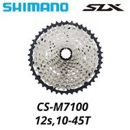 SHIMANO DEORE SLX CS-M7100-12 12 Speed 12S 10-45T 10-51T MTB bicycle Cassette Sprocket Freewheel Cogs CS M8100 M9100 bike parts
