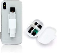 Holder for Juul,OrangeDance Holder for Back of Phone,with Accessory Box for Pods and Chargers,Holder Compatible with iPhone,Samsung Galaxy,Tablets(White-V2)
