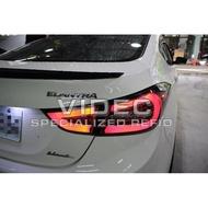威德汽車精品 現代 HUNDAI 2012-16 ELANTRA EX 紅白光柱 LED 尾燈 另有黑底 燻黑