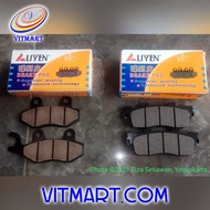 Kymco New Like 150i Noodoe Te30db Brand Liyen Aftermarket Brake Pad Front & Rear Brake Pad