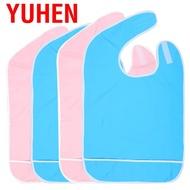 Yuhen 成人老年人防油可重複使用的防水圍兜圍裙吃