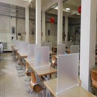 隔離板 透明隔離板餐桌面擋板食堂隔位子分隔板防疫進餐吃飯防飛沫一字型 簡約家 by