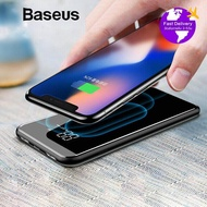 Baseus 8000mAh Qi Wireless Charger Power Bank Dual USB LCD Powerbank For iPhone X Xs Max XR Samsung S9 Plus S8 Note 9 Powerbank