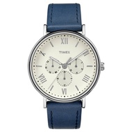 TIMEX/天美時 2017春夏新品 Style風格系列 三眼 手錶/TXTW2R29200 白面/藍色皮革錶帶