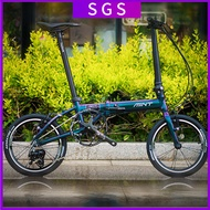 Mint Foldable Bicycle 16-inch Variable-speed Aluminum Alloy Frame Folding Bicycle Male And Female Commuter Bicycle Student Mini Foldable Bike 🔥In Stock🔥