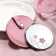 米勒斯創意隨身鏡化妝鏡便攜小鏡子迷你圓形梳妝鏡公主美容鏡