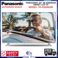 (Bulky) PANASONIC TH-43GX650S 43 INCH 4K UHD ANDROID SMART LED TV, FREE DELIVERY