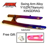 Swing Arm Alloy Y15ZR/LC135 Titanium KINGDRAG(arm kingdrag y15zr moto accessories arm racing alloy lc135 yamaha)