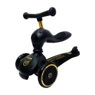 【Scoot & Ride】奧地利飛滑步車滑板車(黑金)