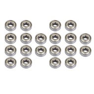 Flameer 20 Pieces 608 zz (ABEC-7) Roller Skate Wheel Bearing  Skateboard Scooters
