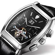 瑞士tevise特威斯陀飛輪手表多功能酒桶防水全自動機械表男士腕表