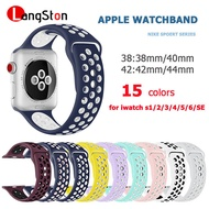 สายนาฬิกา Apple Watch Nike Sports Series สายนาฬิกาแฟชั่นระบายอากาศได้สายรัดหัวเข็มขัดคู่เหมาะสำหรับ iwatch series applewatch 3 / 4 /  5 /  6 / SE
