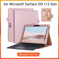 Miimall Surface Go 2/Surface Go Casing,Ultra Slim PU Leather with Pen Holder Cover Case for Surface Go/Surface Go 2 Microsoft