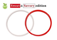 (BakeCrafts) Instant Pot Silicone Sealing Ring 5-6 Quart, Sweet and Savory Edition, for IP-DUO60,...
