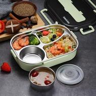 保溫飯盒便當餐盤餐盒套裝304不銹鋼便攜分隔  聖誕節狂歡購