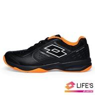 【新春回饋↘滿$1300折$100】LOTTO樂得-義大利第一品牌 男款SPACE 600 網球鞋 [2230] 黑橘【巷子屋】