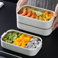 保溫飯盒 304不銹鋼帶蓋飯盒 學生便當盒成人便攜式餐盒雙層保溫盒[優品生活館]