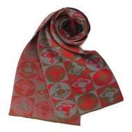 Vivienne Westwood 滿版星球圖樣圍巾(茄紅色)【購名牌】