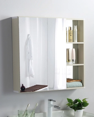 Space Aluminum Bathroom Mirror Cabinet Wall-mounted Bathroom Mirror Wall-mounted Storage Mirror Box Toilet