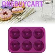 Onebuycart 6 Cavities Silicone Donut Chest  Chocolate Mold Microwave Freezer Safe Tool