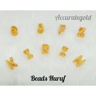Beads Huruf - Emas 916