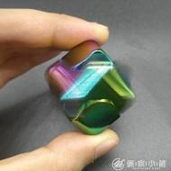 旋轉魔方指尖陀螺炫彩手指陀螺edc減壓玩具正方形合金